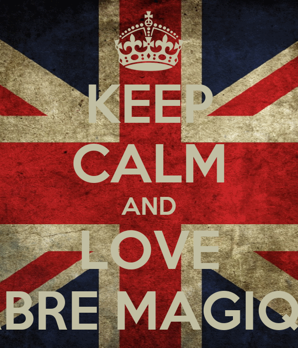 KEEP CALM AND LOVE ARBRE MAGIQUE