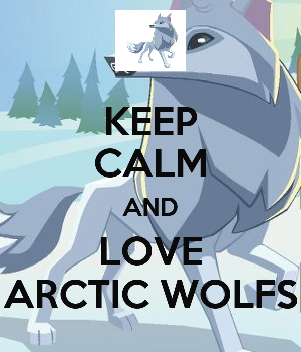 KEEP CALM AND LOVE ARCTIC WOLFS