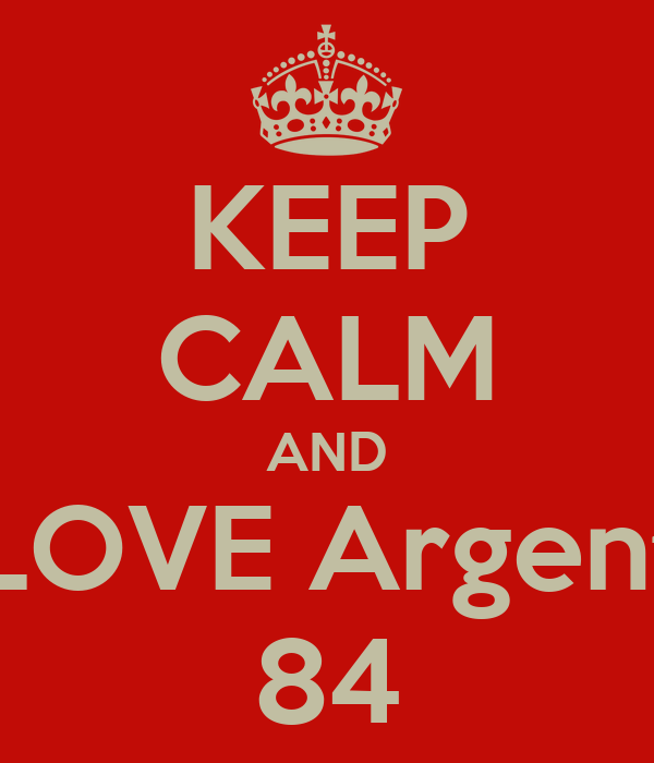 KEEP CALM AND LOVE Argent 84