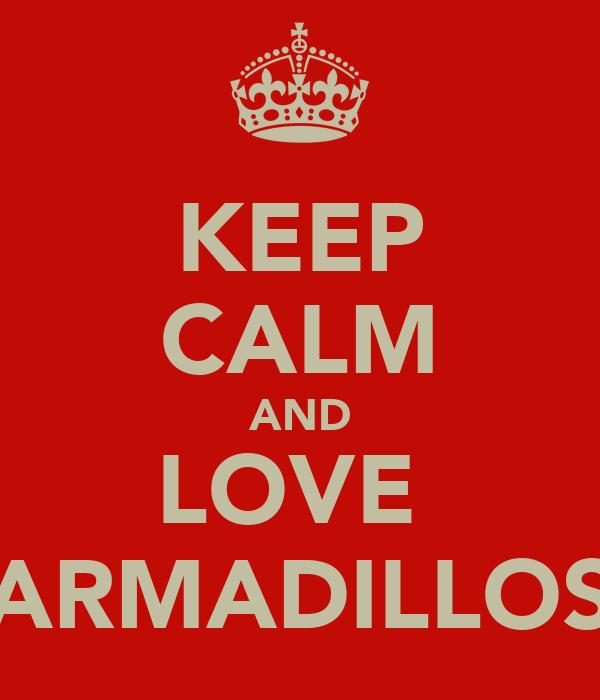KEEP CALM AND LOVE  ARMADILLOS