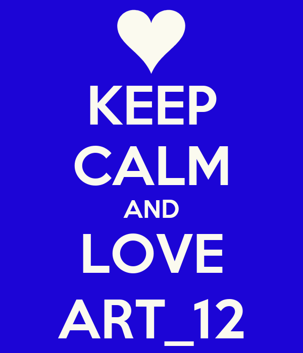 KEEP CALM AND LOVE ART_12