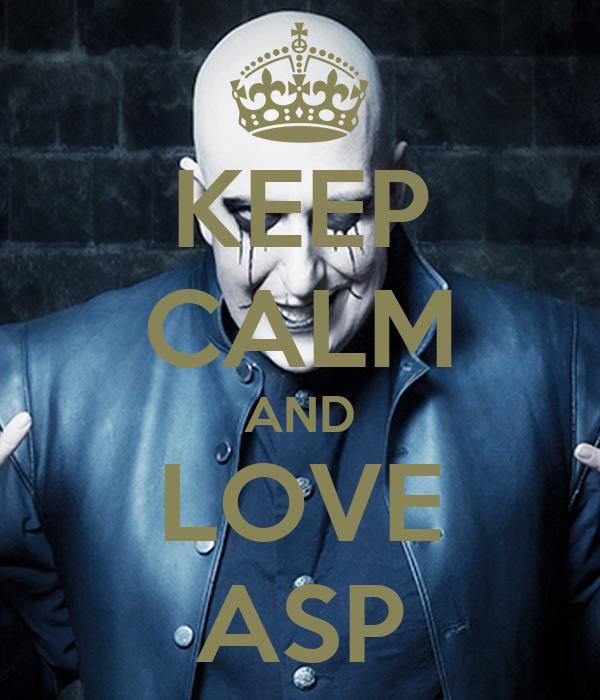 KEEP CALM AND LOVE ASP