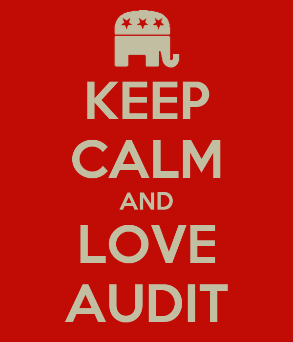 KEEP CALM AND LOVE AUDIT