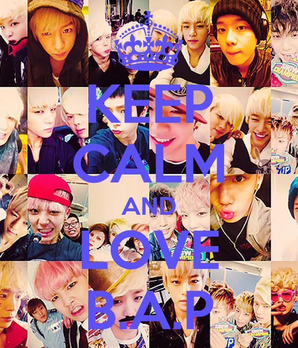 KEEP CALM AND LOVE B.A.P
