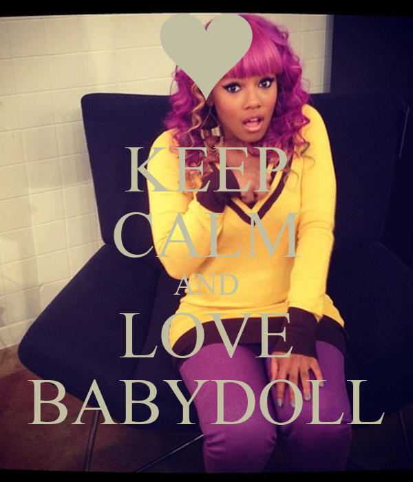 KEEP CALM AND LOVE BABYDOLL