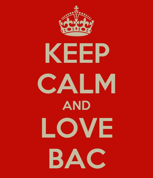 KEEP CALM AND LOVE BAC