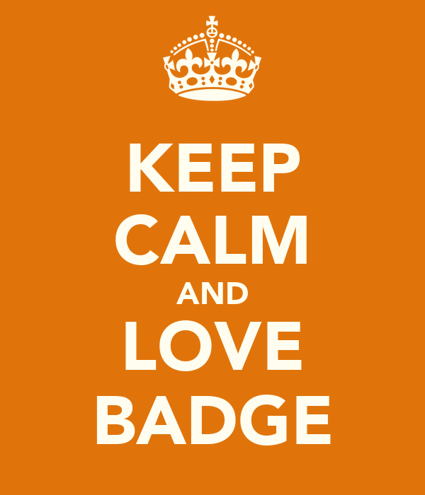 KEEP CALM AND LOVE BADGE