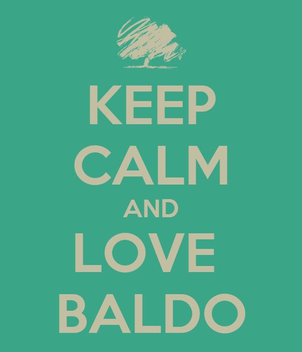 KEEP CALM AND LOVE  BALDO