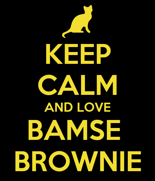 KEEP CALM AND LOVE BAMSE  BROWNIE