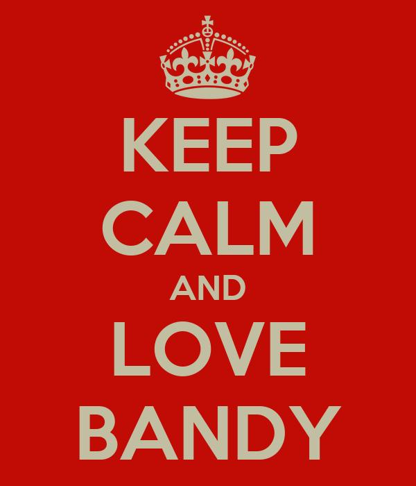 KEEP CALM AND LOVE BANDY