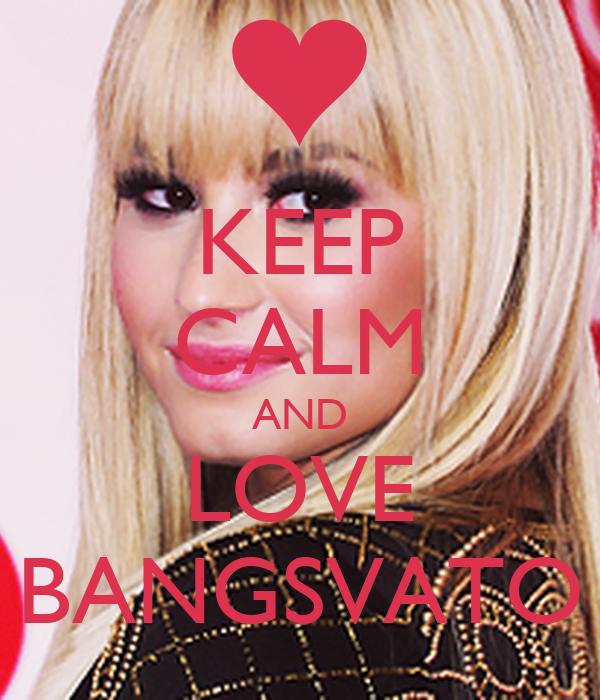 KEEP CALM AND LOVE BANGSVATO