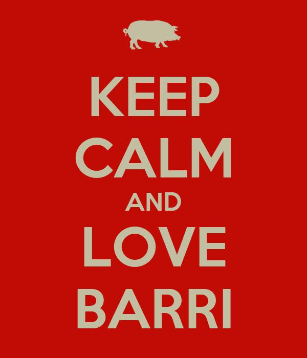 KEEP CALM AND LOVE BARRI