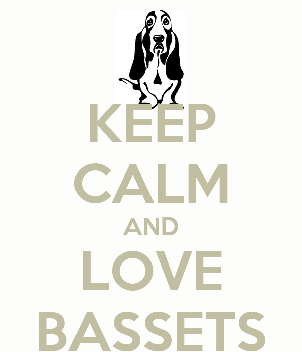 KEEP CALM AND LOVE BASSETS