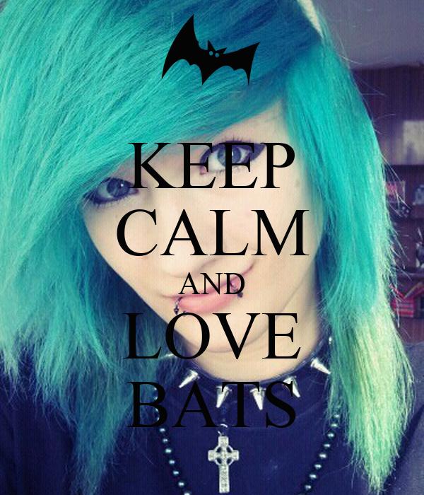 KEEP CALM AND LOVE BATS