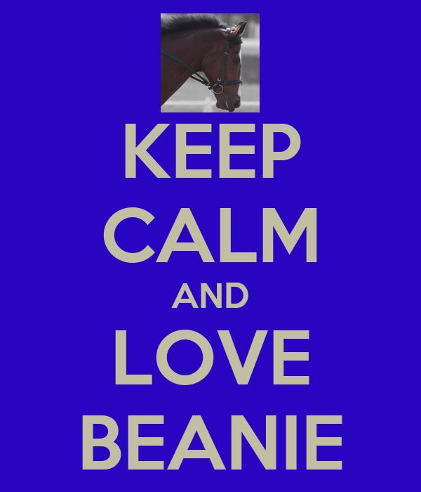 KEEP CALM AND LOVE BEANIE