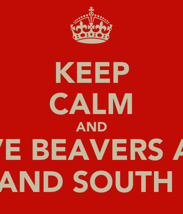 KEEP CALM AND LOVE BEAVERS AND BMX AND SOUTH PARK
