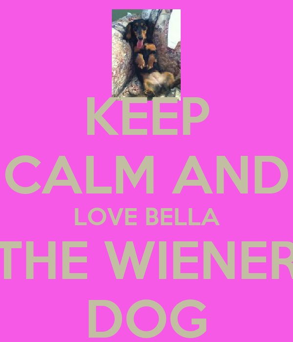 KEEP CALM AND LOVE BELLA THE WIENER DOG