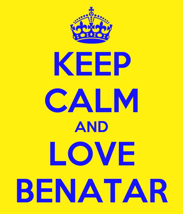 KEEP CALM AND LOVE BENATAR