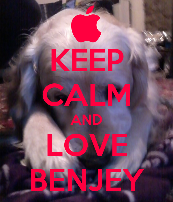 KEEP CALM AND LOVE BENJEY