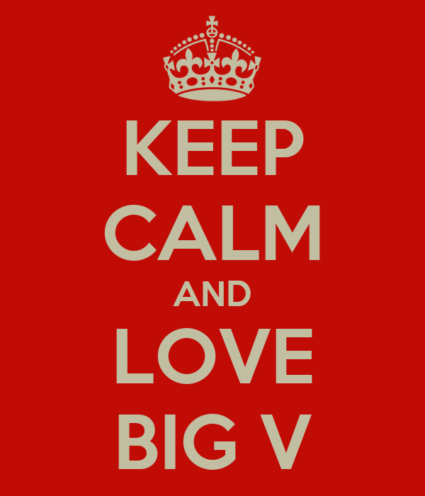 KEEP CALM AND LOVE BIG V