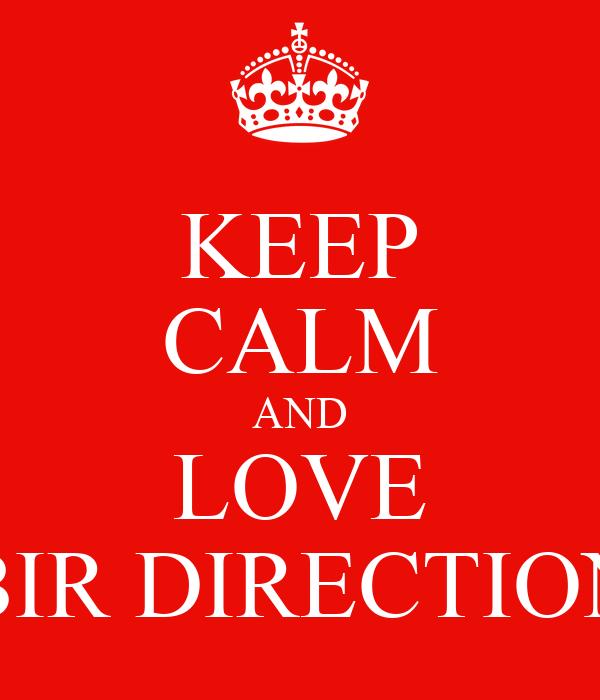 KEEP CALM AND LOVE BIR DIRECTION
