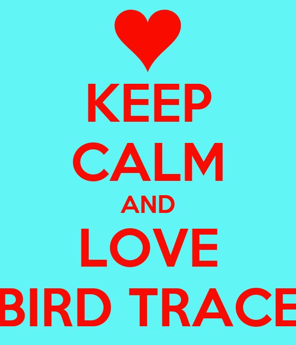 KEEP CALM AND LOVE BIRD TRACE