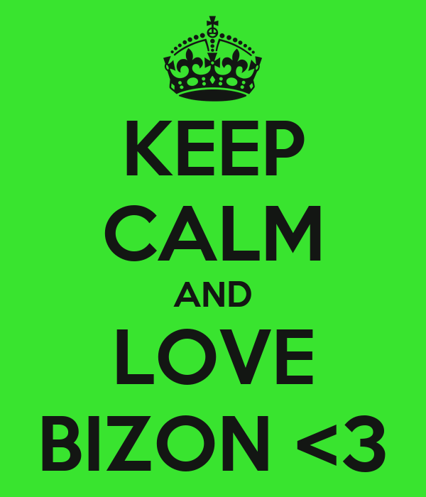 KEEP CALM AND LOVE BIZON <3
