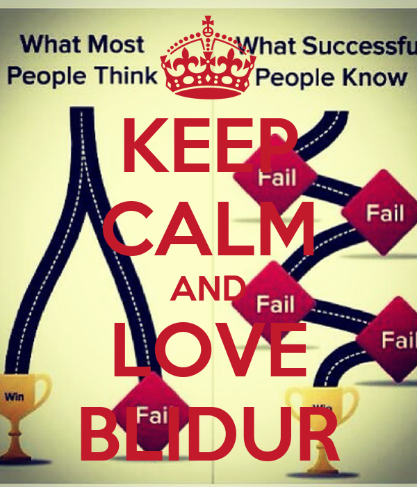 KEEP CALM AND LOVE BLIDUR