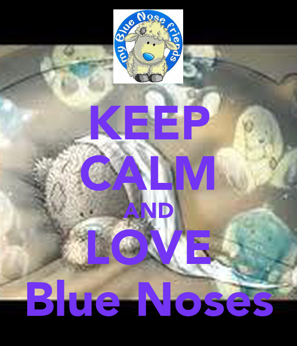 KEEP CALM AND LOVE Blue Noses