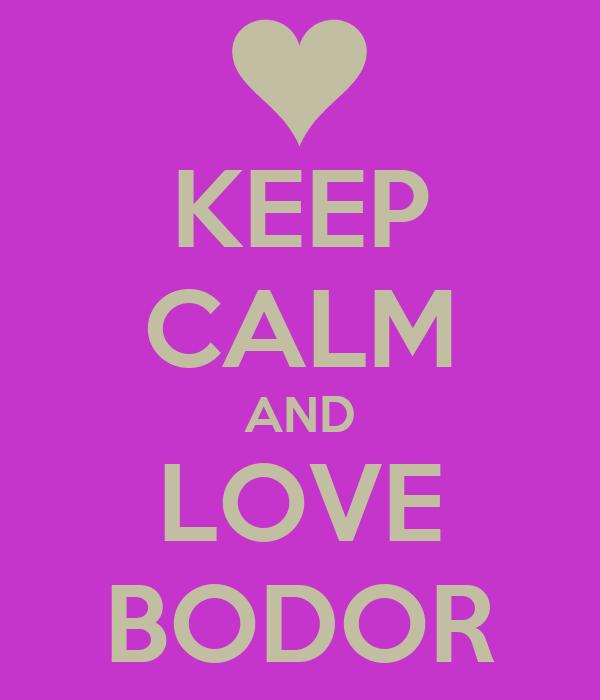 KEEP CALM AND LOVE BODOR