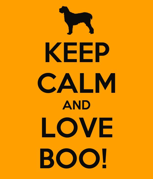 KEEP CALM AND LOVE BOO!