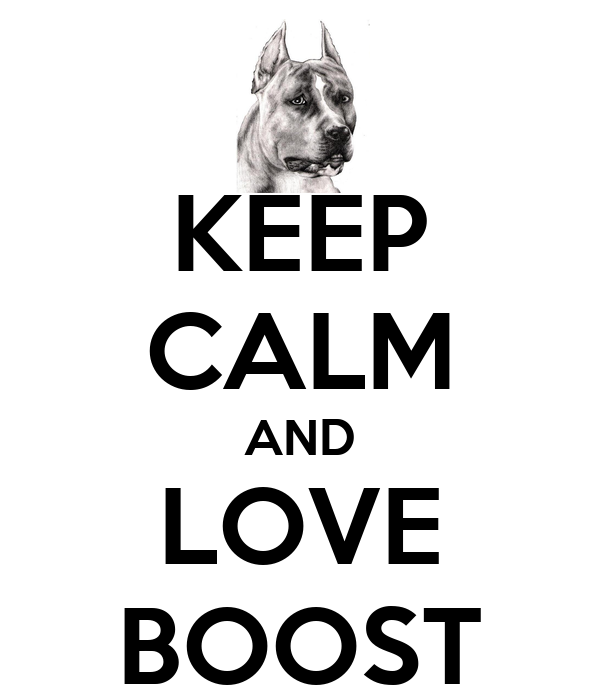 KEEP CALM AND LOVE BOOST
