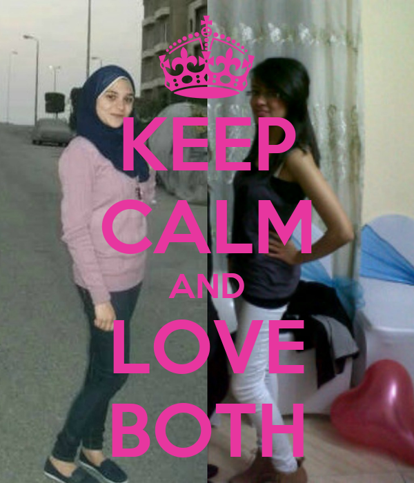 KEEP CALM AND LOVE BOTH