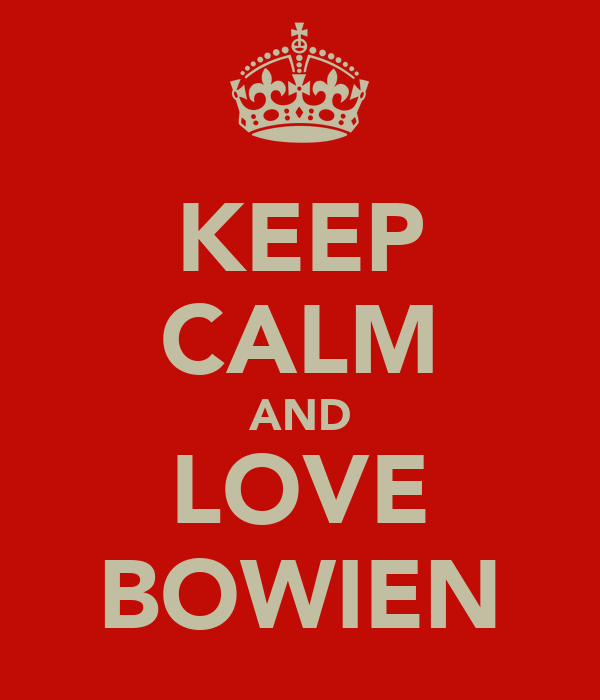 KEEP CALM AND LOVE BOWIEN