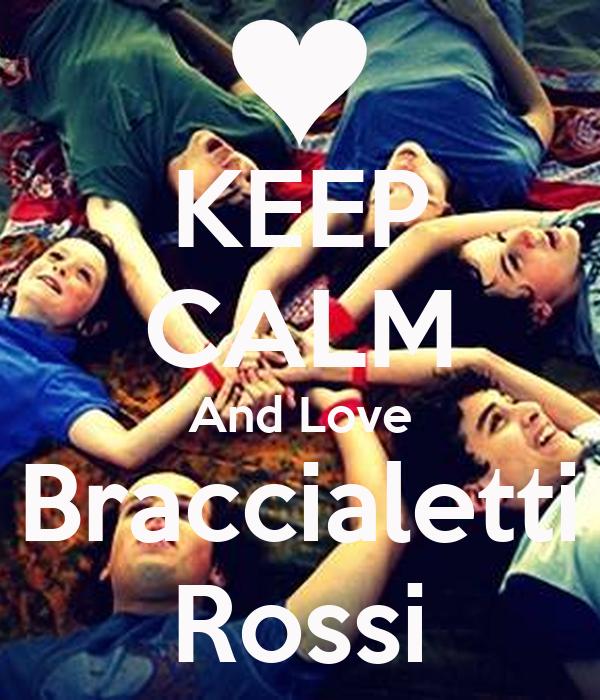 KEEP CALM And Love Braccialetti Rossi