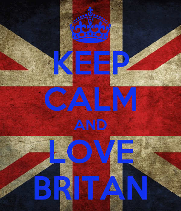 KEEP CALM AND LOVE BRITAN