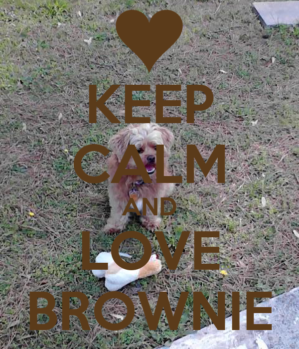 KEEP CALM AND LOVE BROWNIE