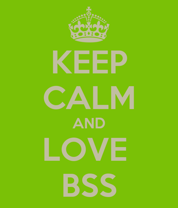 KEEP CALM AND LOVE  BSS