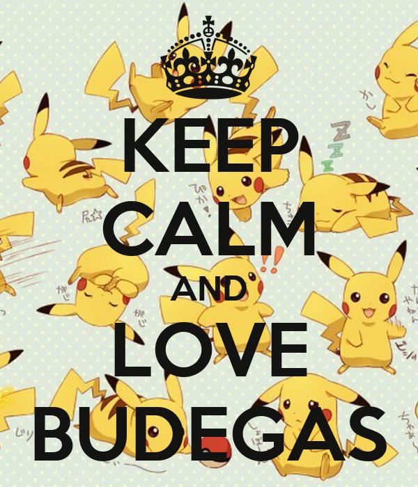 KEEP CALM AND LOVE BUDEGAS