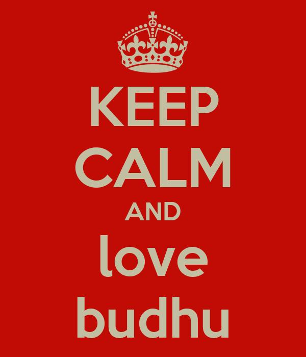 KEEP CALM AND love budhu