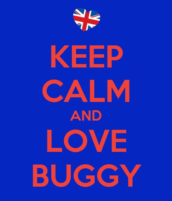 KEEP CALM AND LOVE BUGGY