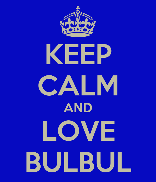 KEEP CALM AND LOVE BULBUL