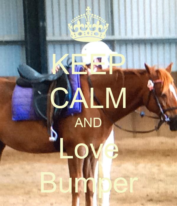 KEEP CALM AND Love Bumper