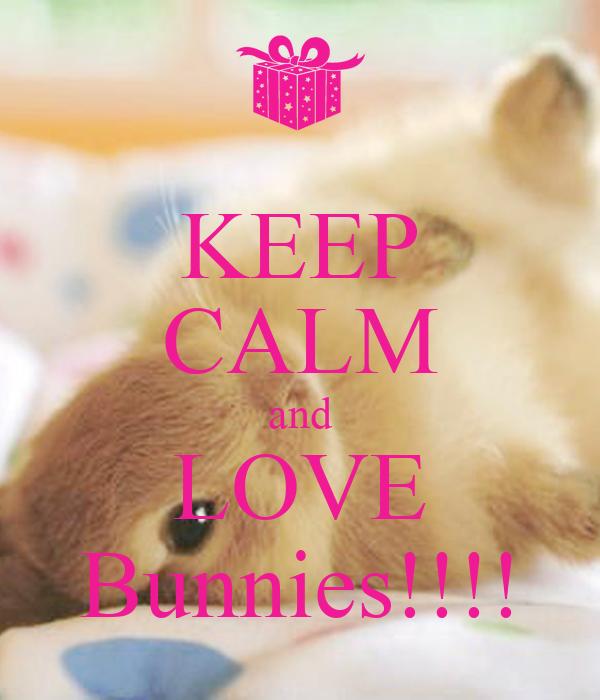 KEEP CALM and LOVE Bunnies!!!!