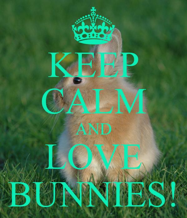 KEEP CALM AND LOVE BUNNIES!