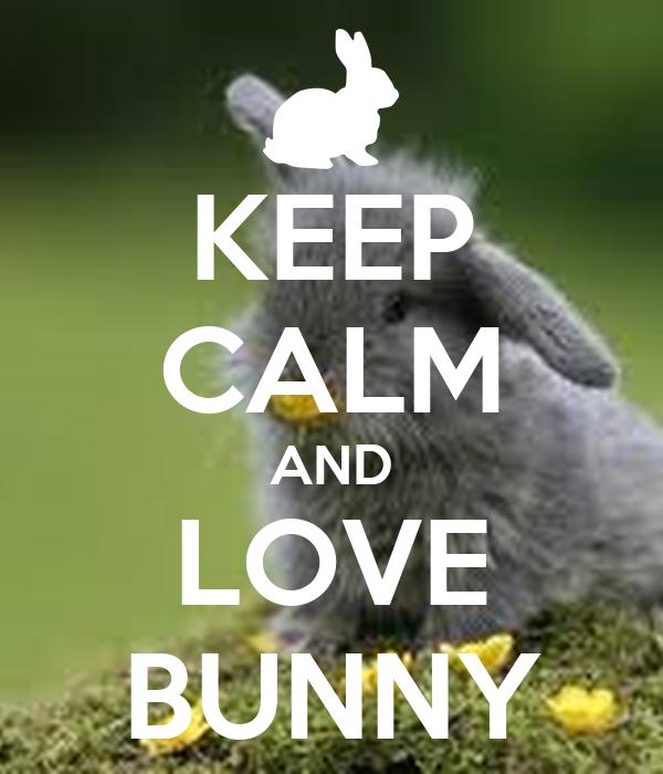 KEEP CALM AND LOVE BUNNY