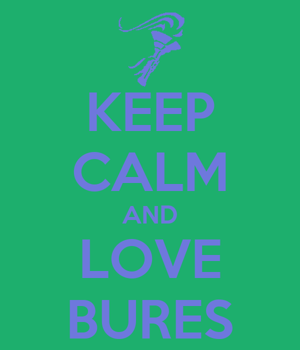 KEEP CALM AND LOVE BURES