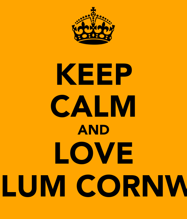 KEEP CALM AND LOVE CALLUM CORNWELL