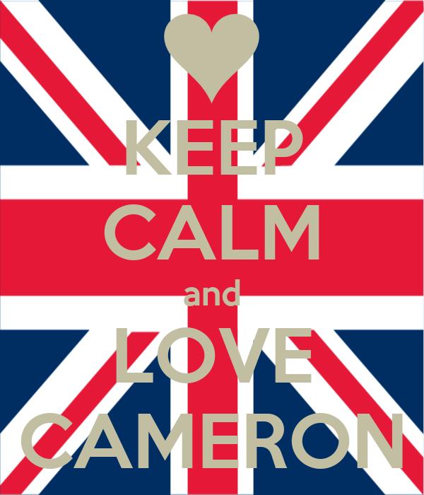 KEEP CALM and LOVE CAMERON