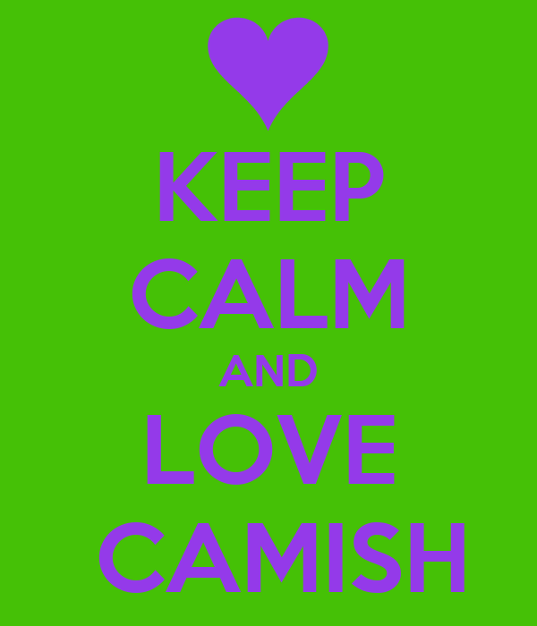 KEEP CALM AND LOVE  CAMISH